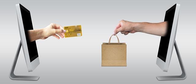 Znázornění internetového nákupu